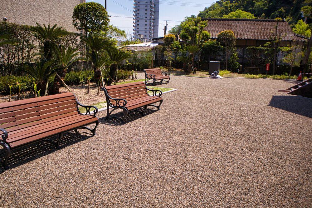 旧鹿児島紡績所技師館前庭