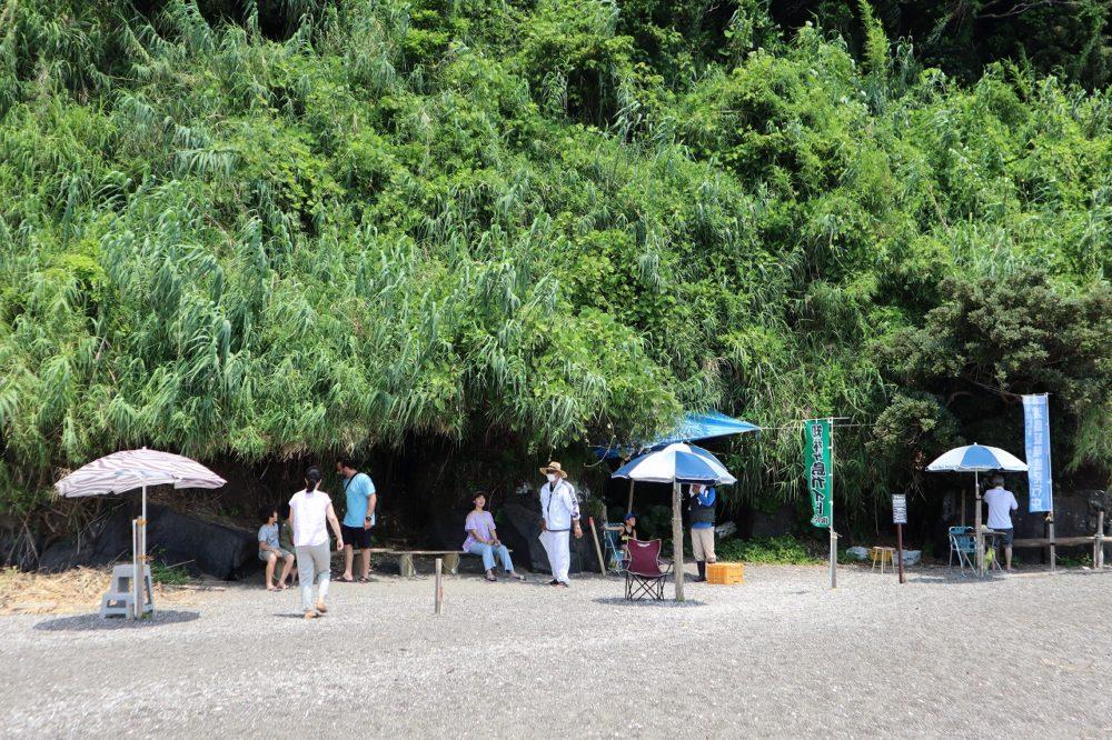 知林ヶ島の休憩所
