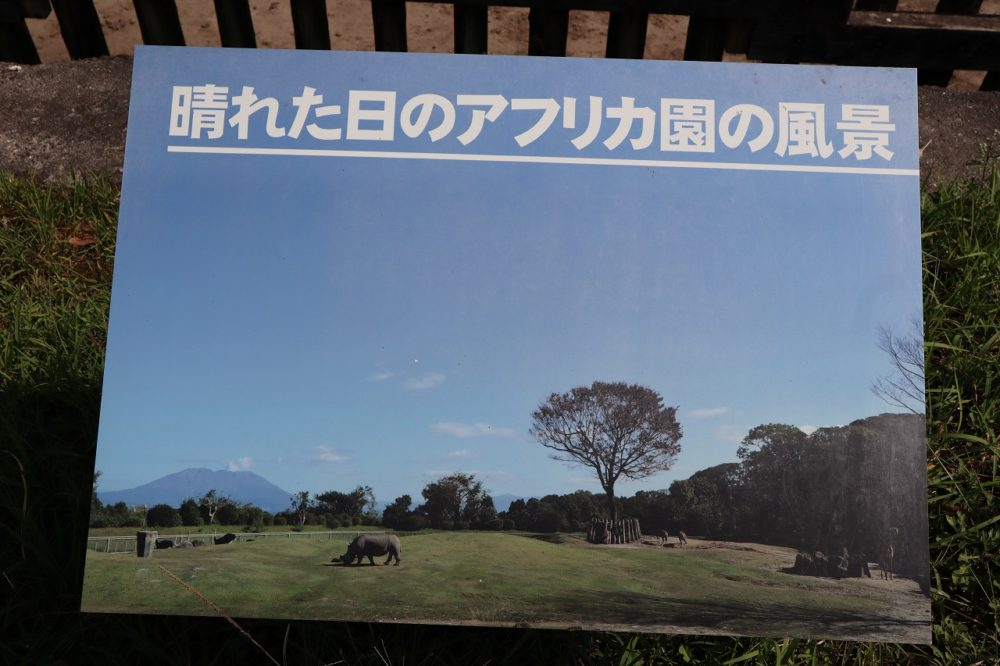良い天気の日の平川動物公園