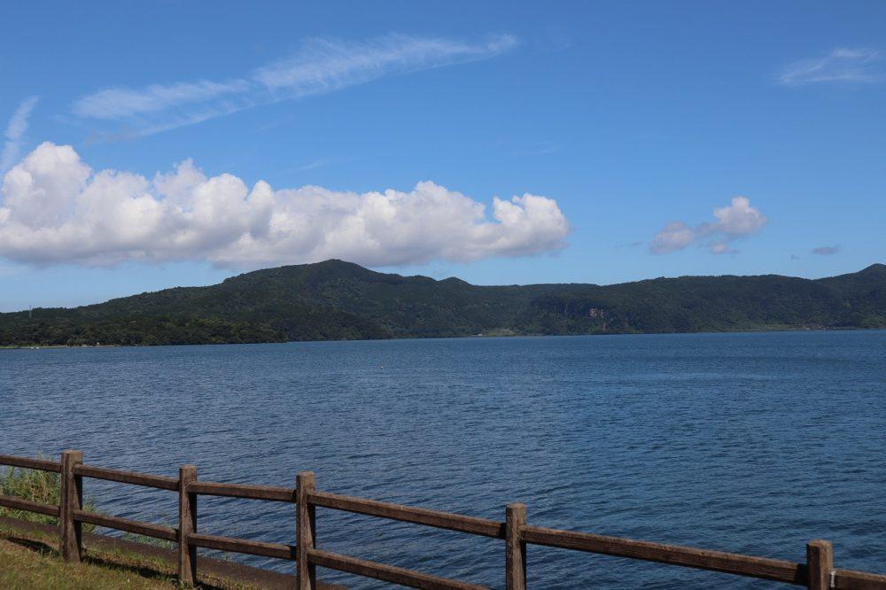 池田湖遊園地からの池田湖