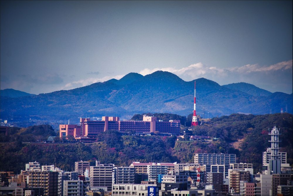 鹿児島県庁からの城山