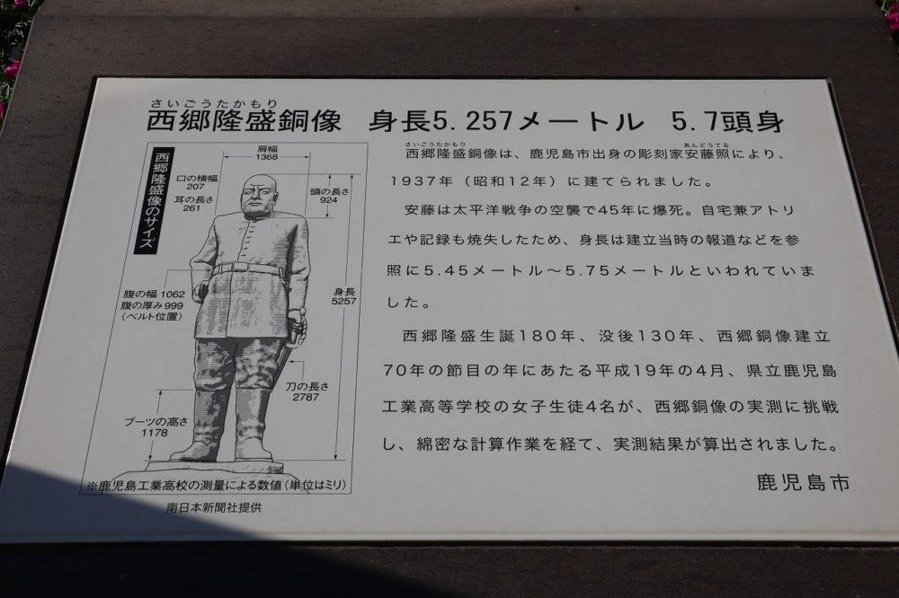 西郷隆盛銅像大きさ