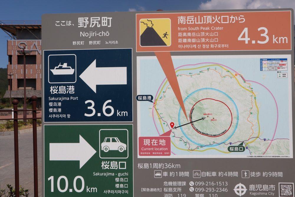 桜島からの距離