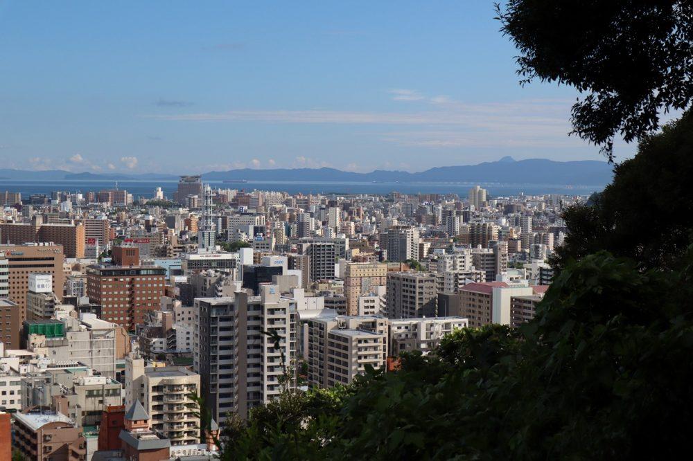 城山展望台からの開聞岳