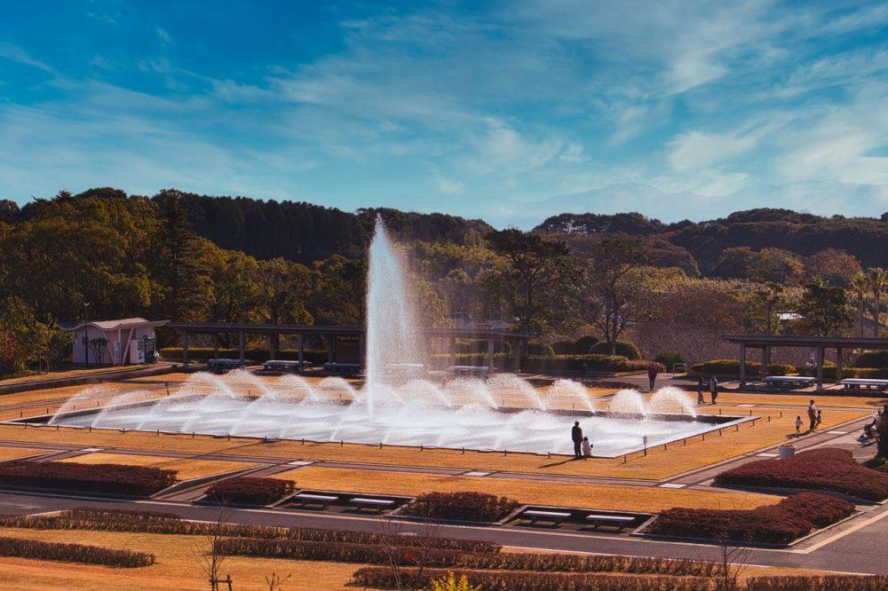 吉野公園の噴水