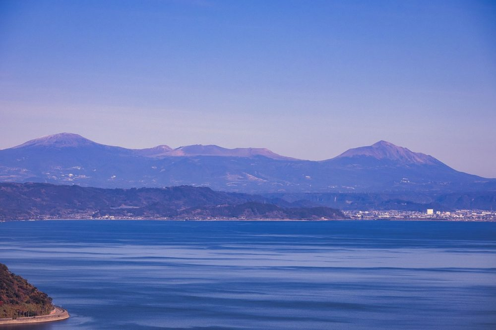 吉野公園からの霧島連山