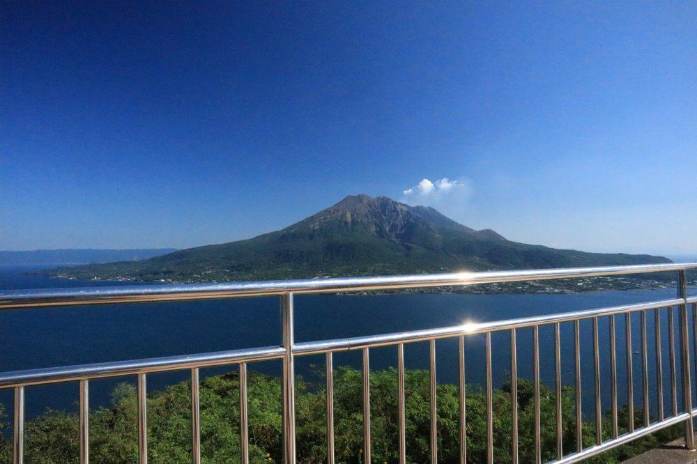 展望台と桜島